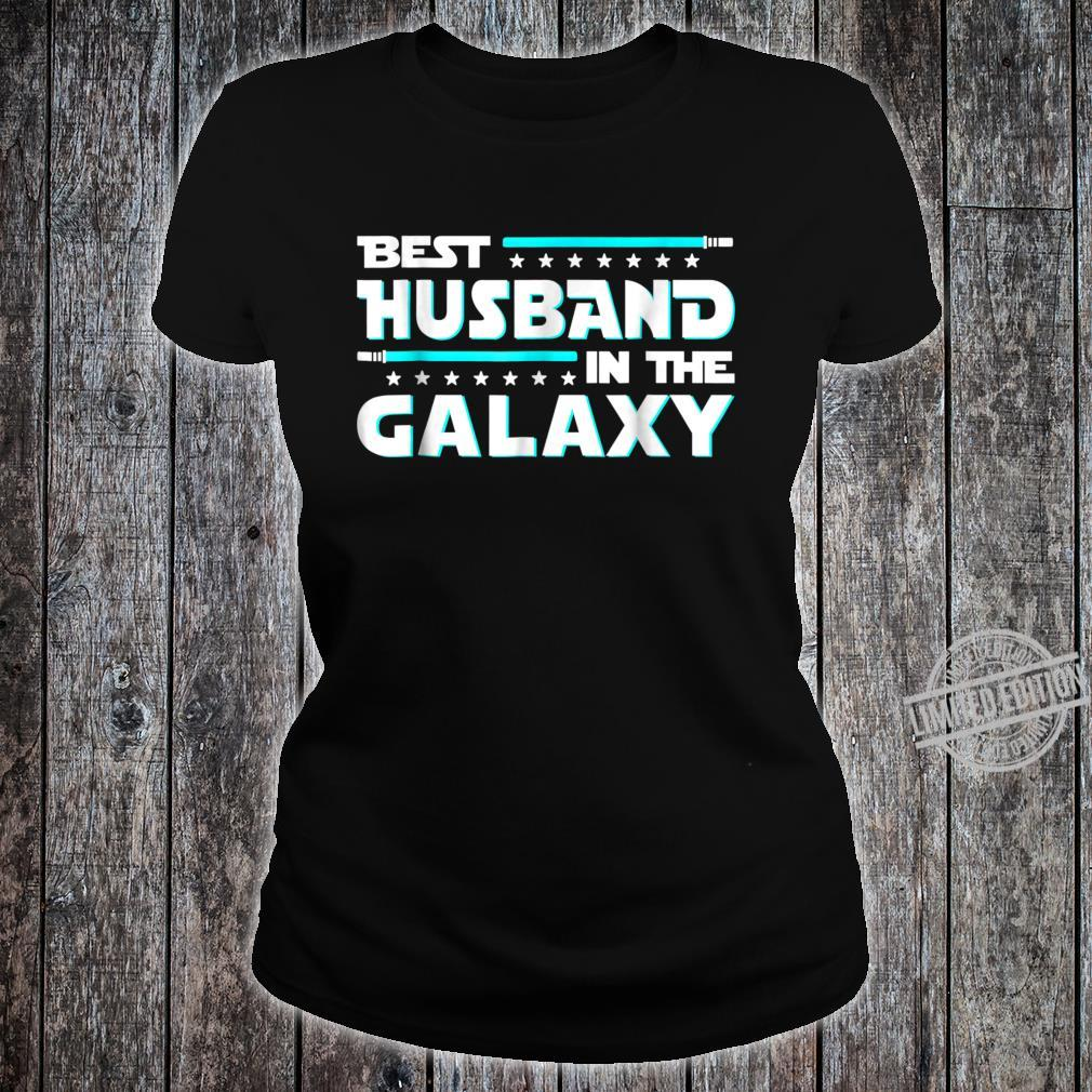 Best Husband In The Galaxy Fathers Day Shirt ladies tee