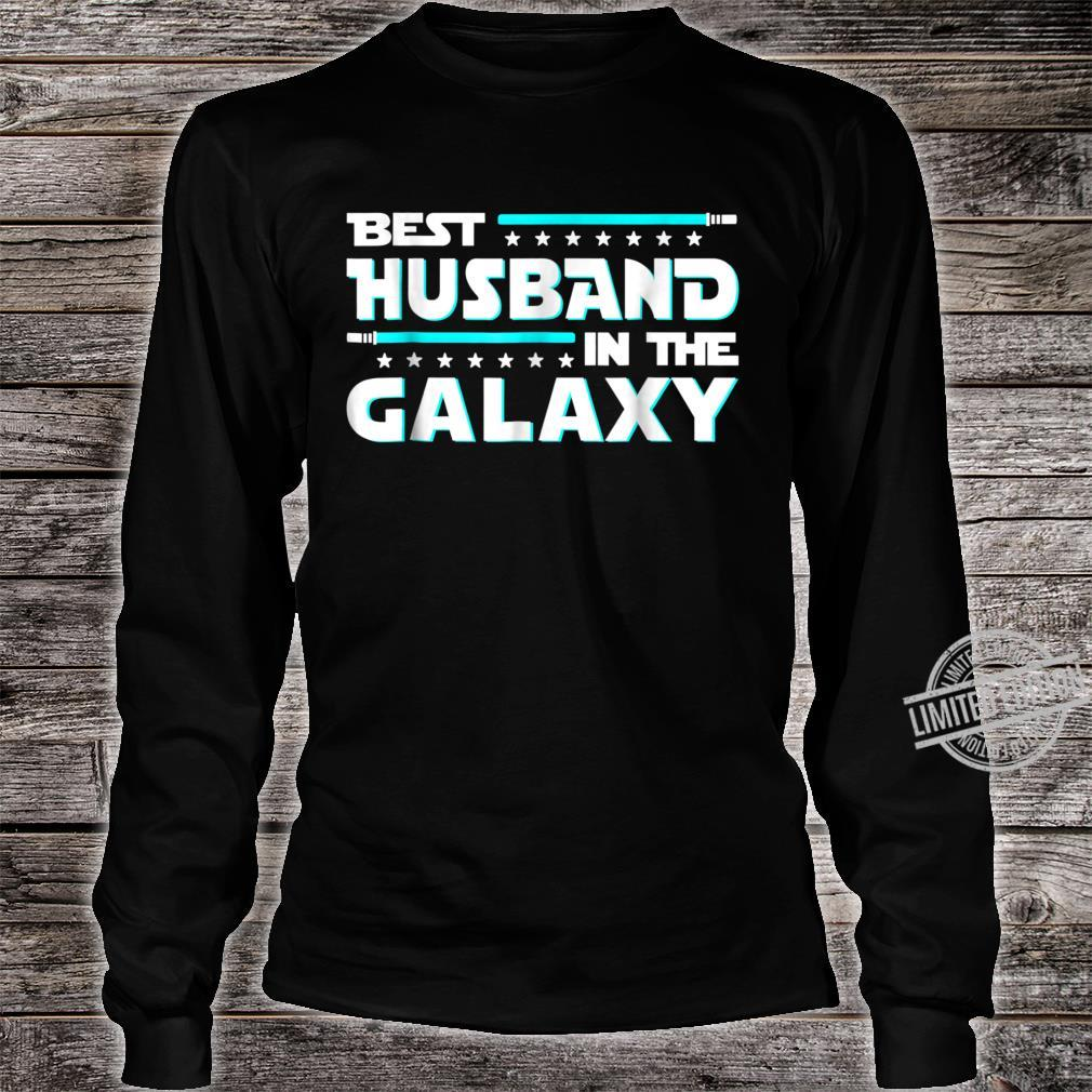 Best Husband In The Galaxy Fathers Day Shirt long sleeved