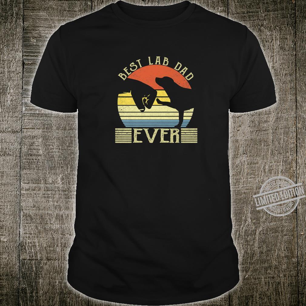 Best Lab Dad Ever Bump Labrador Retriever Shirt