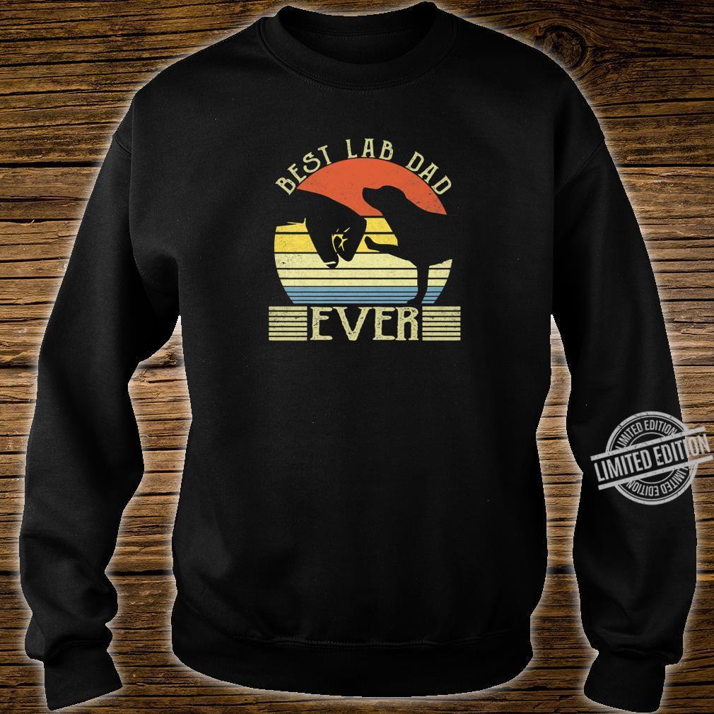 Best Lab Dad Ever Bump Labrador Retriever Shirt sweater