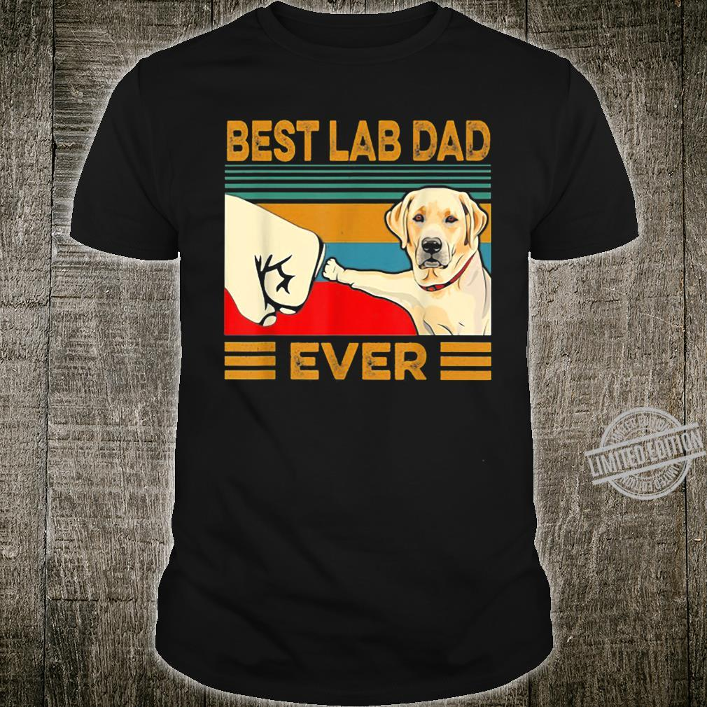 Best Lab Dad Ever Retro Vintage Shirt