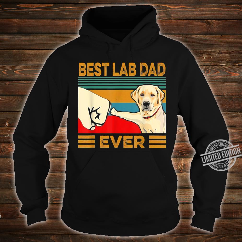 Best Lab Dad Ever Retro Vintage Shirt hoodie