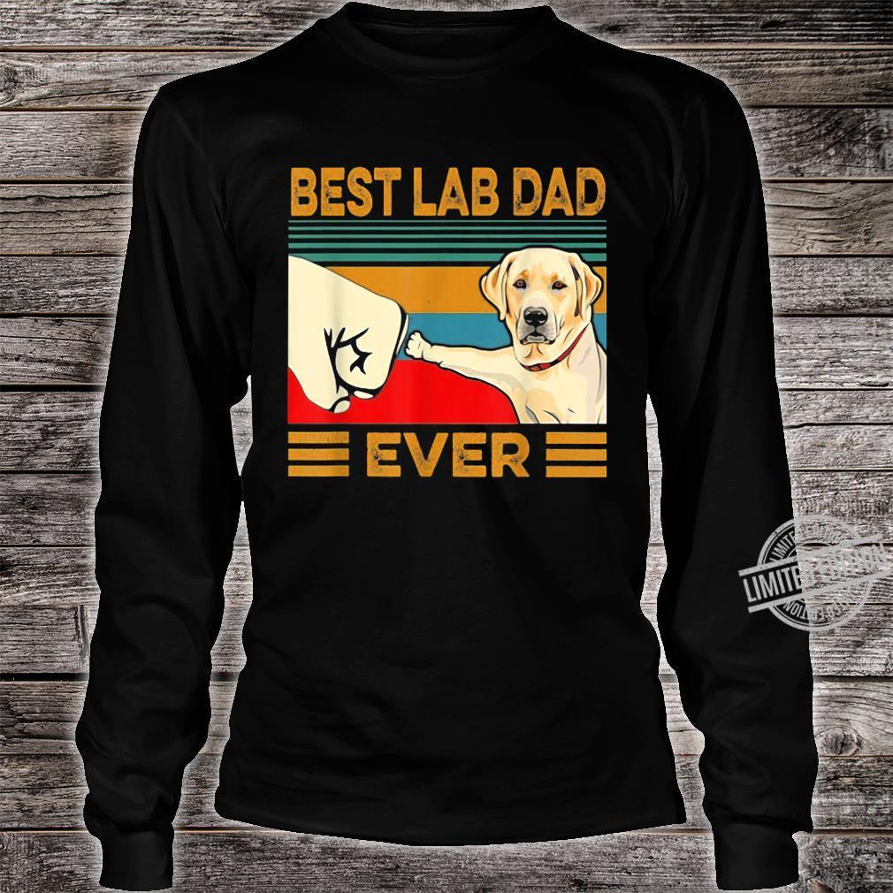 Best Lab Dad Ever Retro Vintage Shirt long sleeved