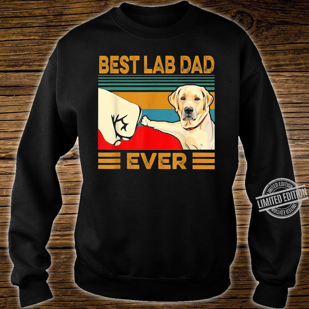 Best Lab Dad Ever Retro Vintage Shirt sweater
