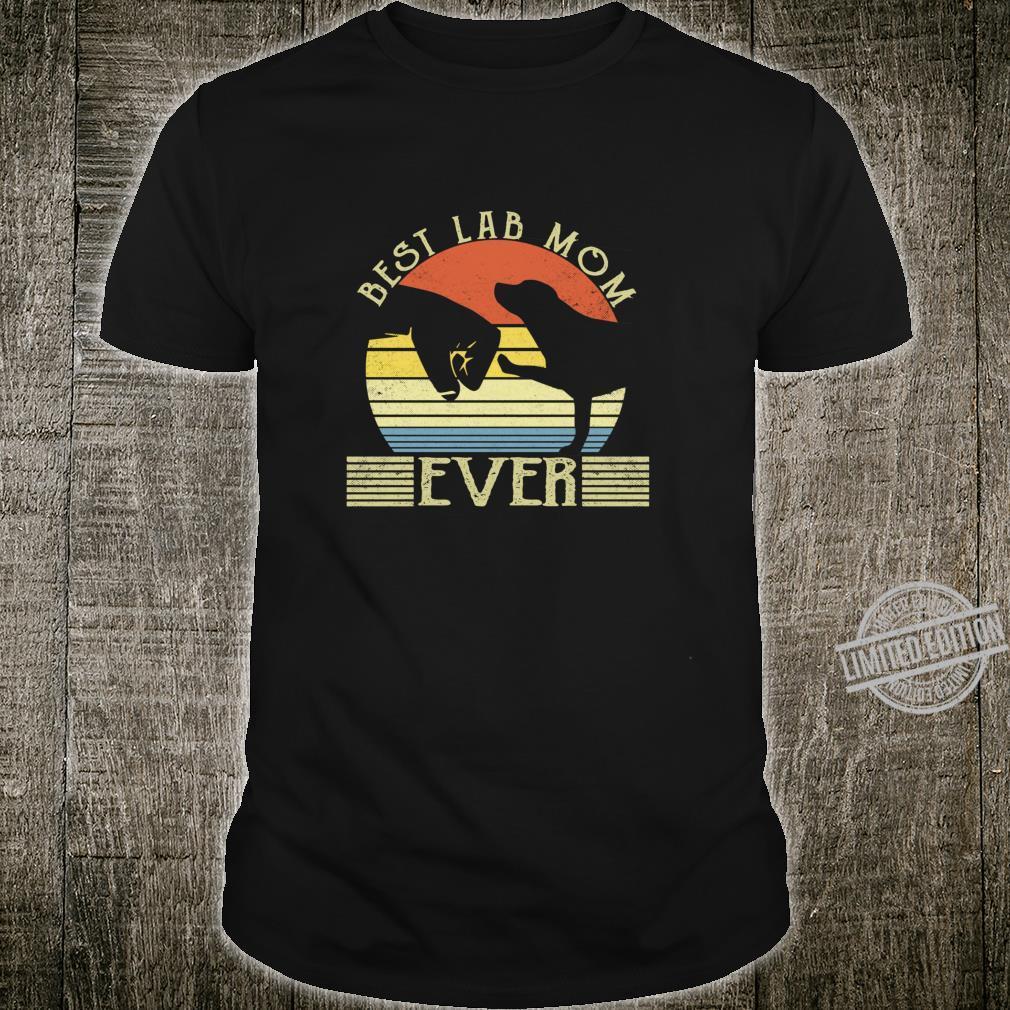 Best Lab Mom Ever Bump Labrador Retriever Shirt