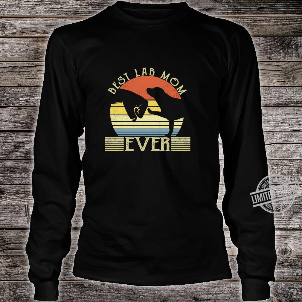 Best Lab Mom Ever Bump Labrador Retriever Shirt long sleeved