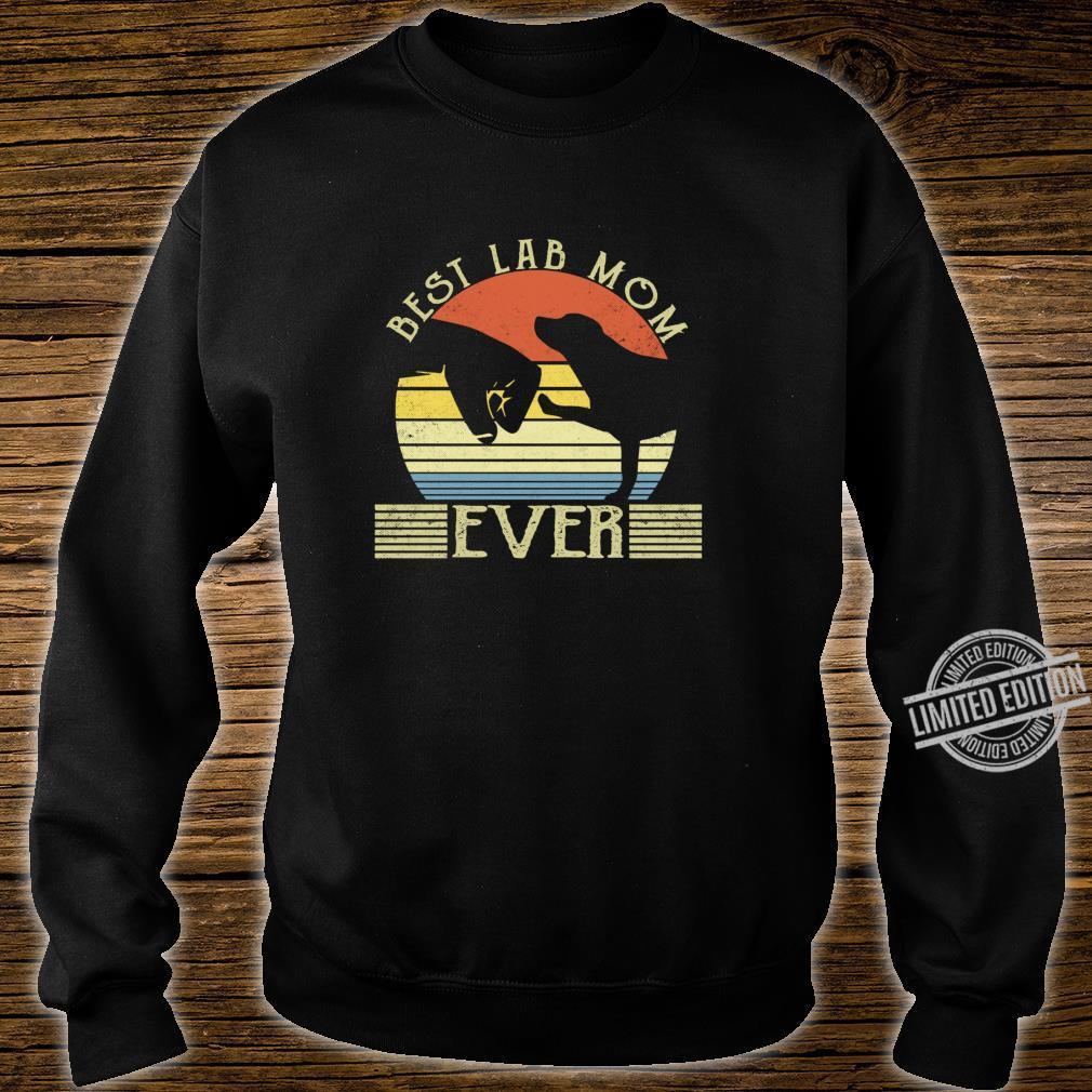 Best Lab Mom Ever Bump Labrador Retriever Shirt sweater