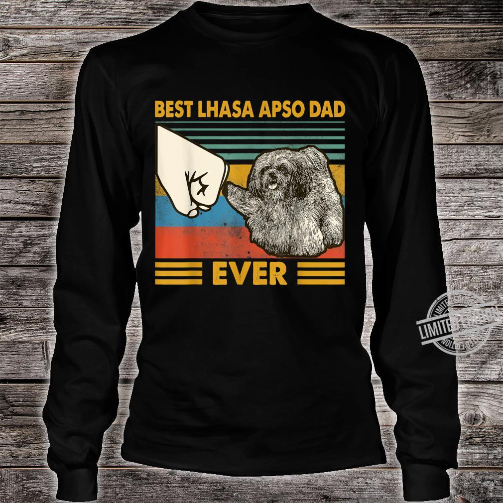 Best Lhasa Apso Dad Ever I Love My HLhasa Apso Shirt long sleeved