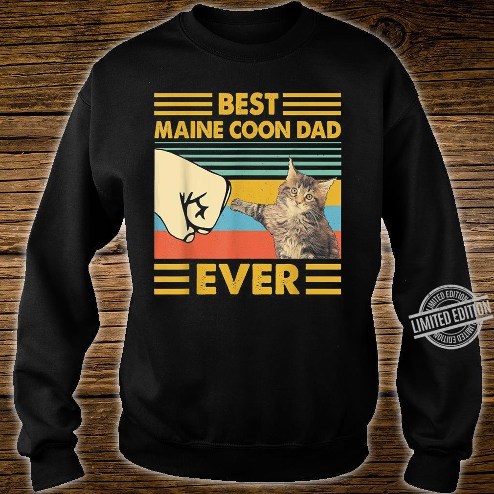 Best Maine Coon Dad Ever Retro Vintage Sunset Shirt sweater