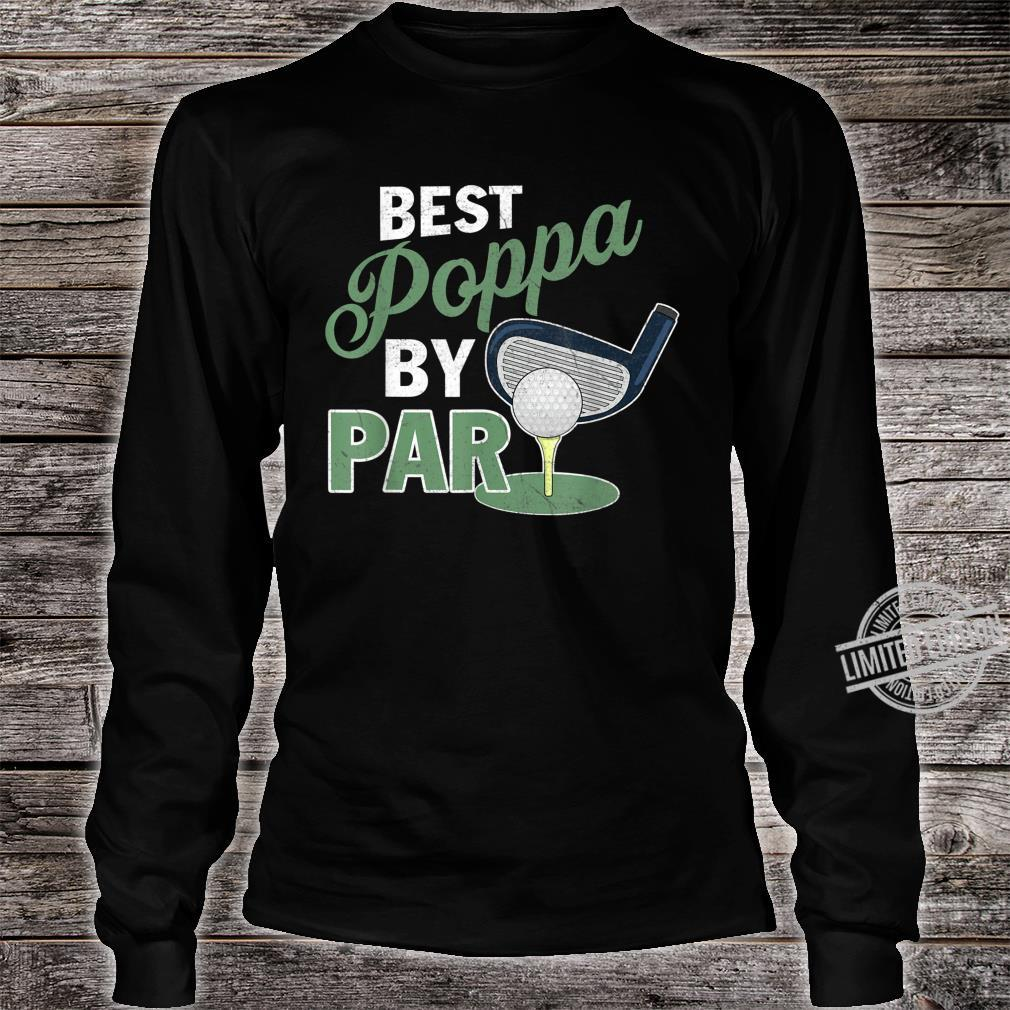 Best Poppa By Par Father's Day Golf Sports Shirt long sleeved