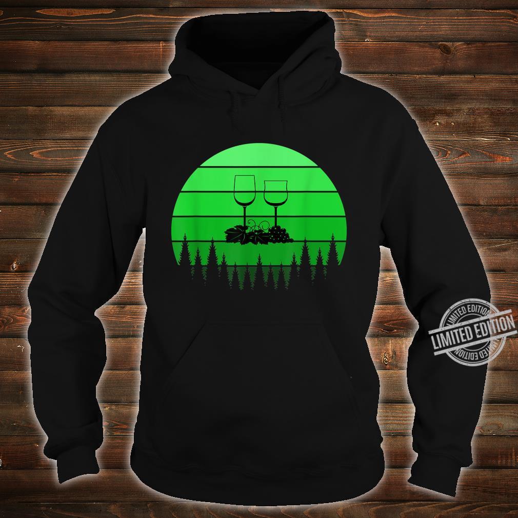 Best Red Wine St Patricks Day Green Retro Sunset Shirt hoodie