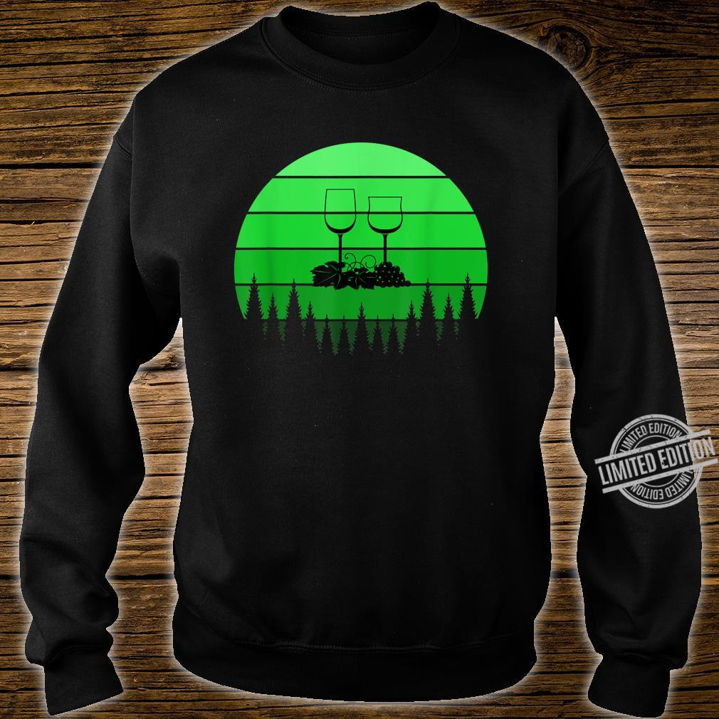 Best Red Wine St Patricks Day Green Retro Sunset Shirt sweater