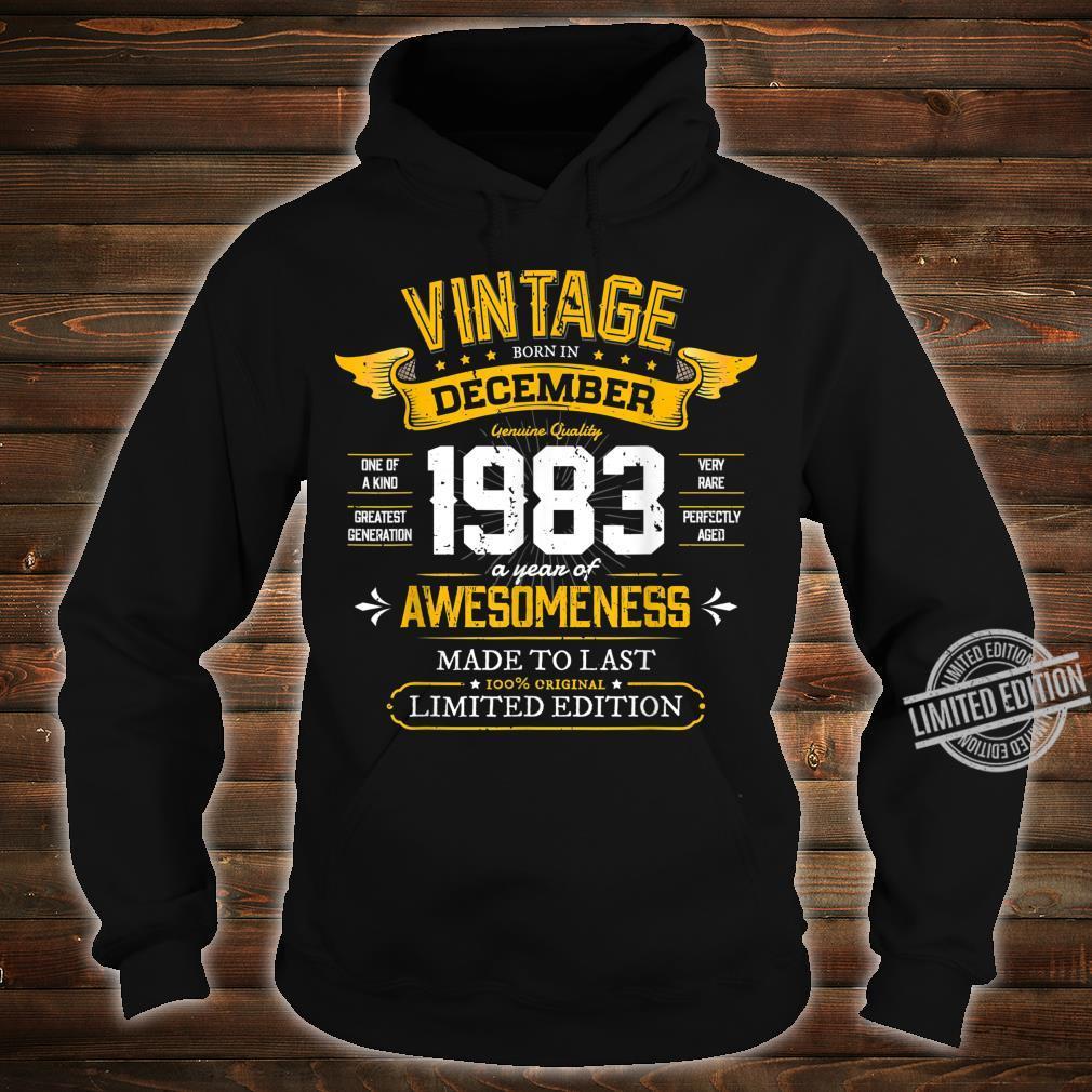 Best of 1983 Vintage 36th December 1983 Retro Birthday Shirt hoodie