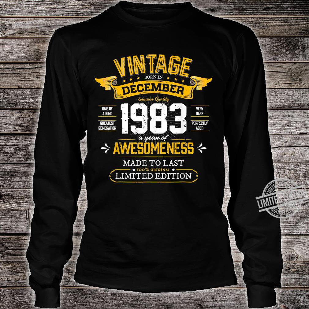Best of 1983 Vintage 36th December 1983 Retro Birthday Shirt long sleeved