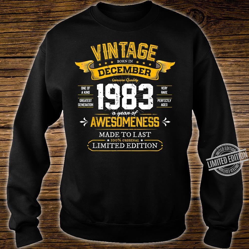 Best of 1983 Vintage 36th December 1983 Retro Birthday Shirt sweater