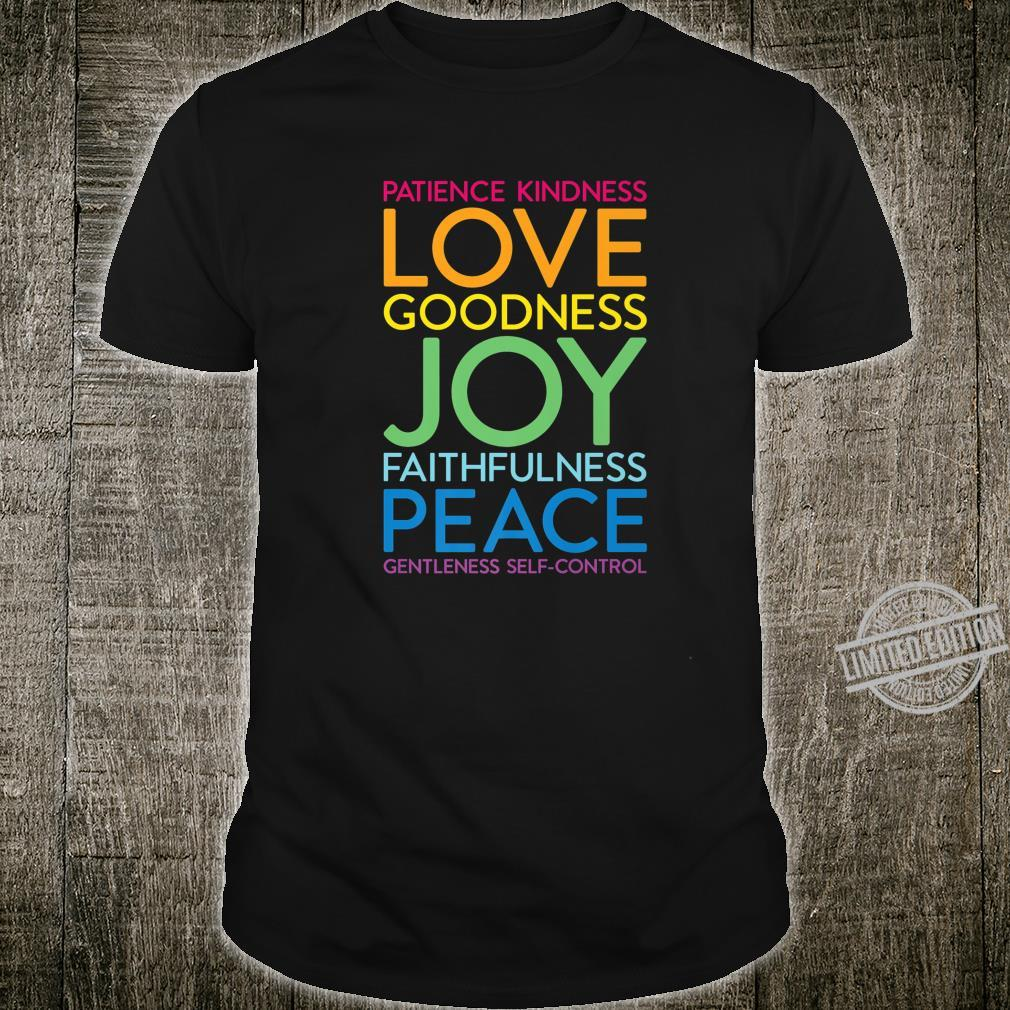 Fruit of the Spirit Love Joy Peace Christian Bible Verse Shirt