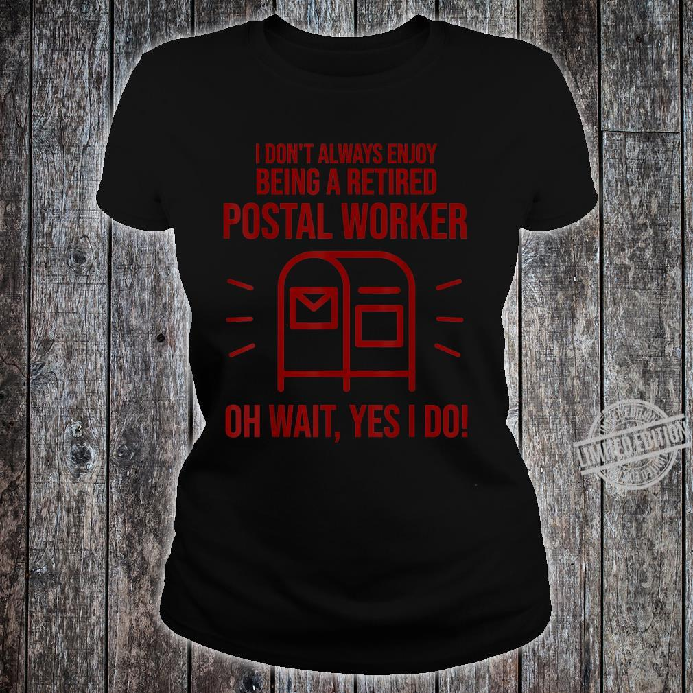 Funny Postal Worker Retirement Cute Retired Courier Shirt ladies tee