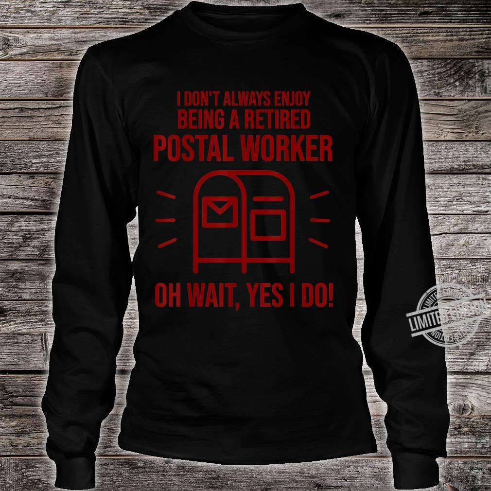 Funny Postal Worker Retirement Cute Retired Courier Shirt long sleeved