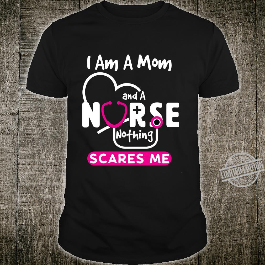 Mens Long Sleeve Cotton Hoodie I Am A Mom and A Nurse Nothing Scares Me 3 Sweatshirt