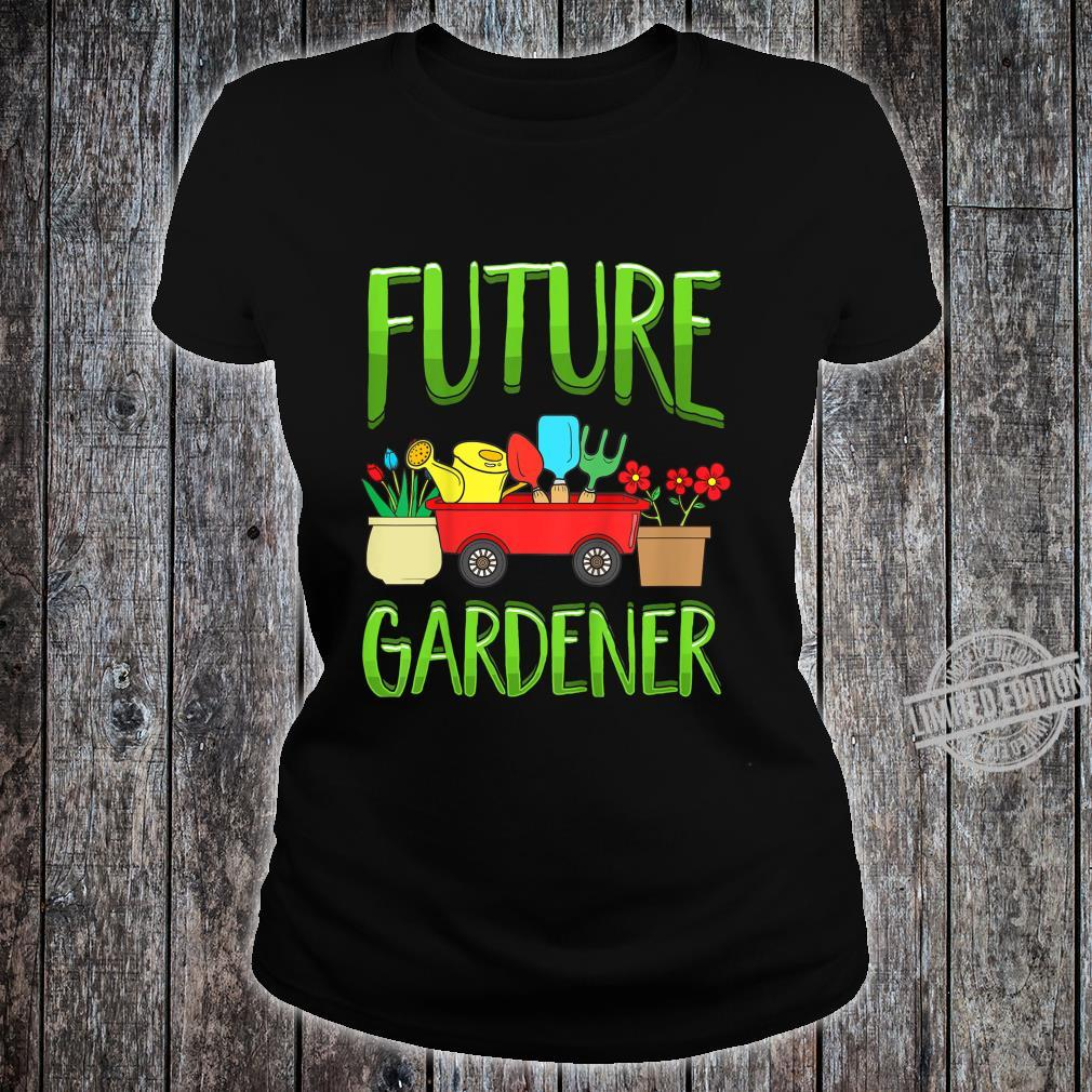 Kinder Future Gardener Garden Gardening Planting Boys Girls Shirt ladies tee