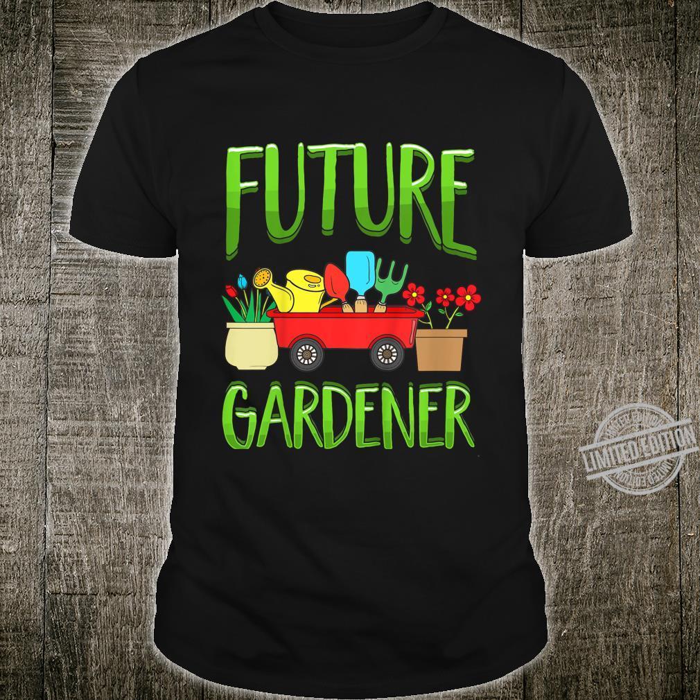 Kinder Future Gardener Garden Gardening Planting Boys Girls Shirt