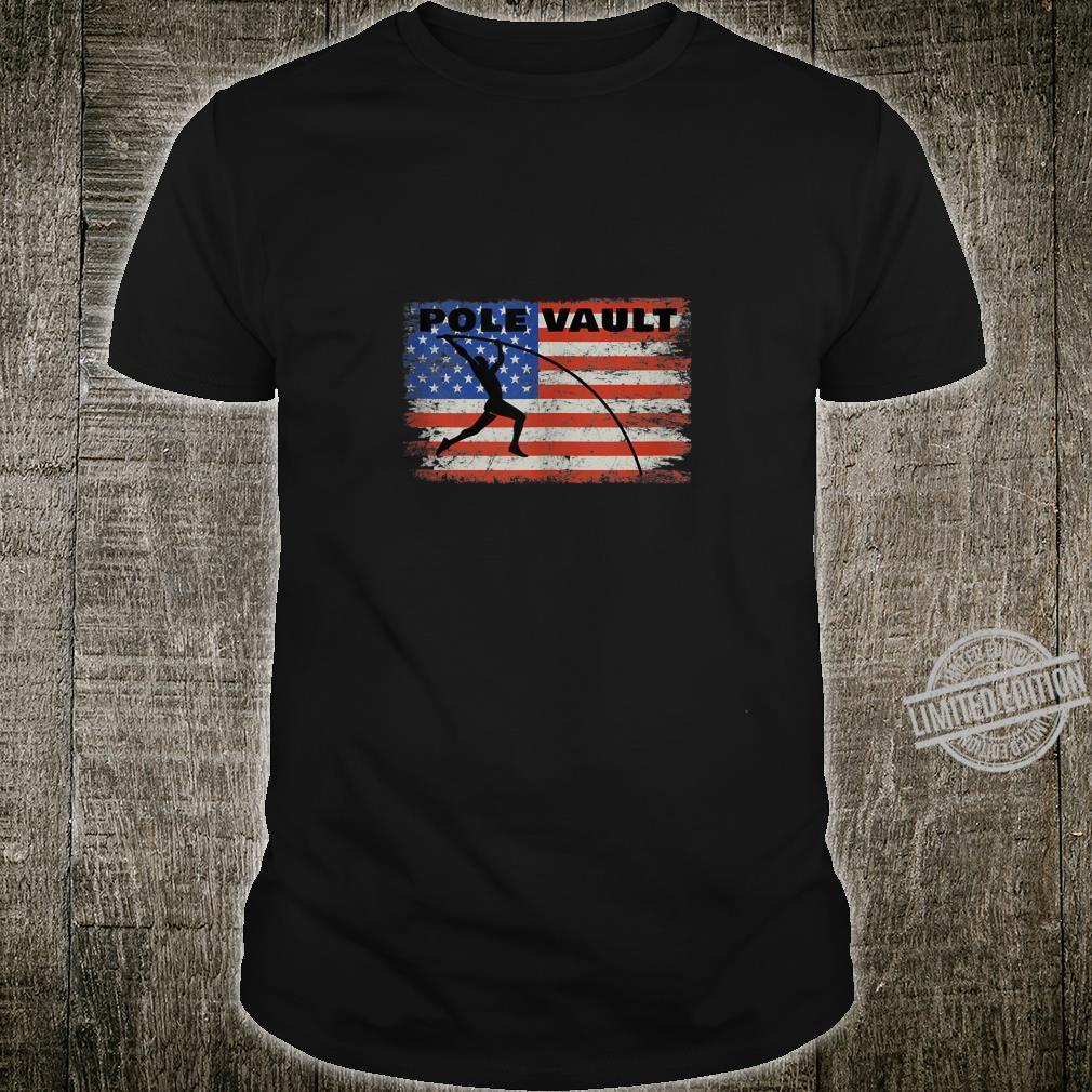 Pole Vault American Flag Patriotic Pole Vaulting Design Shirt
