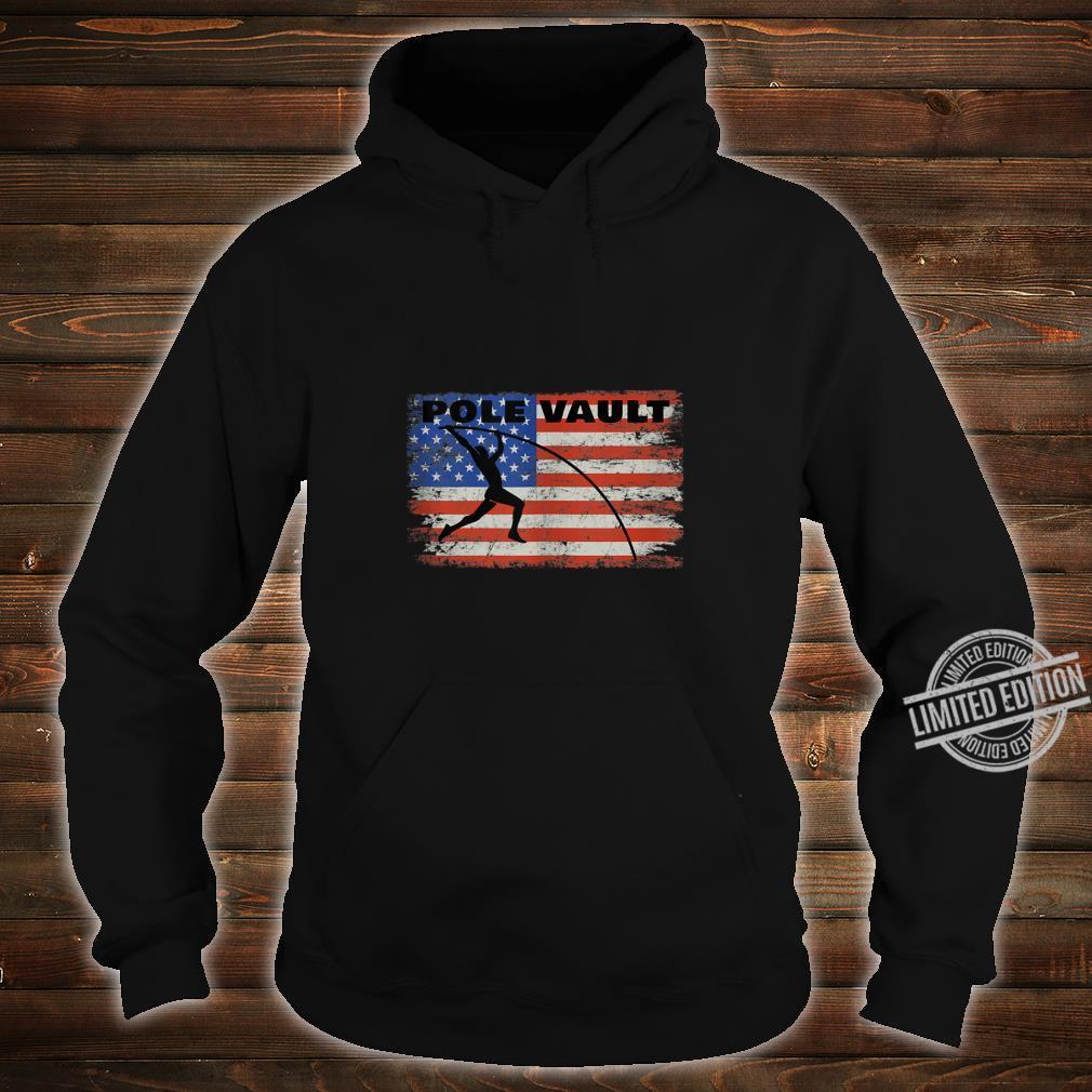 Pole Vault American Flag Patriotic Pole Vaulting Design Shirt hoodie