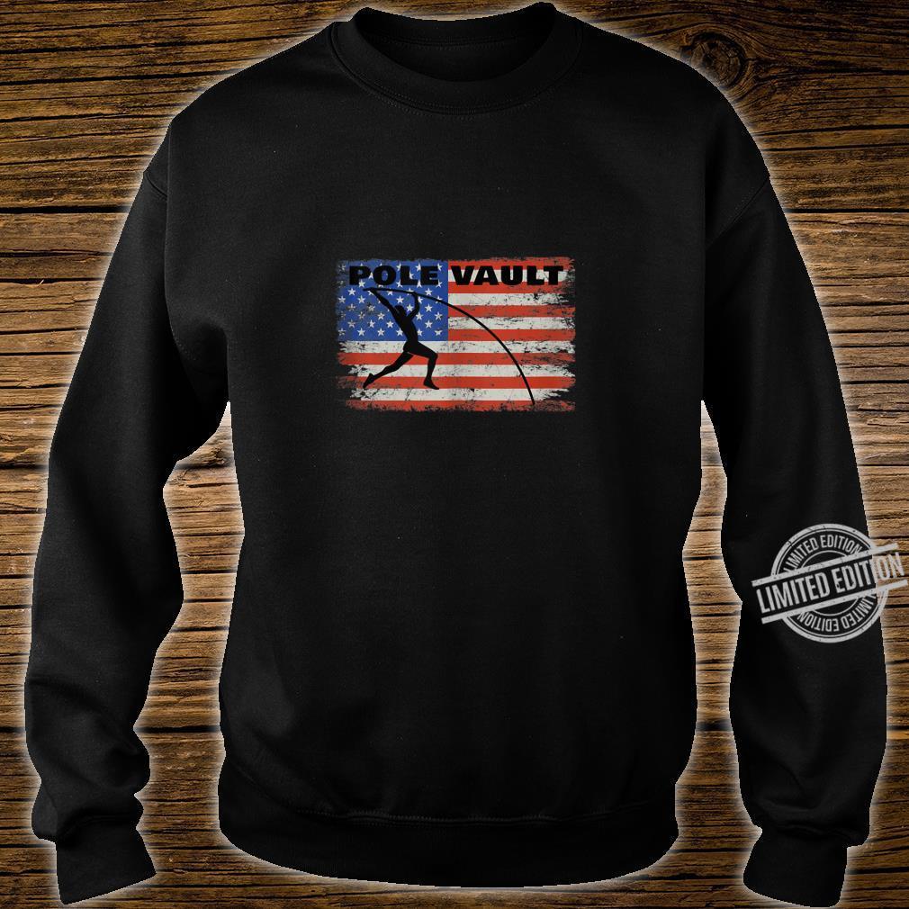 Pole Vault American Flag Patriotic Pole Vaulting Design Shirt sweater